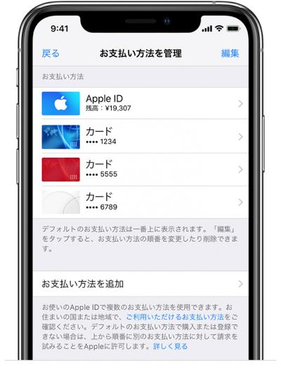 Apple payの支払い方法