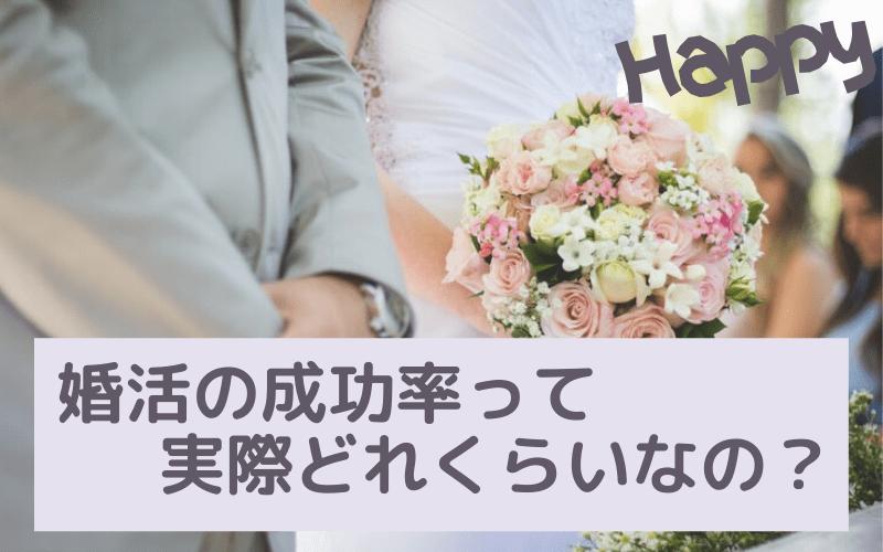 婚活の成功率を解説するサムネイル画像